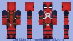 DeadPool ( Marvel Legends ) (Wave 11) Minecraft Skin