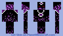 Purple Flame Guy with Amulet Minecraft Skin