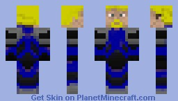 Blue blond hazmat Minecraft Skin