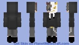 Demon Dude with White Oni mask Minecraft Skin