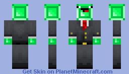 Derping Emerald Man Minecraft Skin
