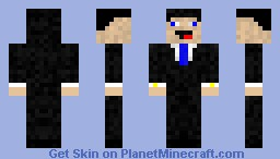 Derp In a Suit Minecraft Skin