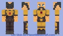 Golden Mandalorian Armor [Without helmet] Minecraft Skin
