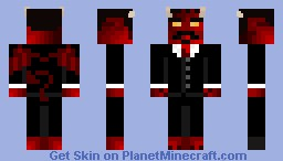 devil in a suit 3D horns Minecraft Skin