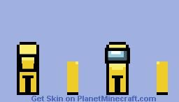 Among us yellow guy Minecraft Skin