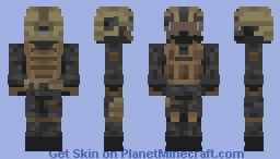 Shadow Company Soldier - Modern Warfare 2 Minecraft Skin