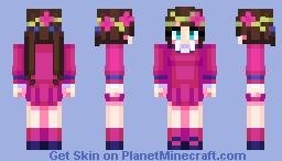 Dia Kurosawa Love Live Flower Crown set (request) Minecraft Skin