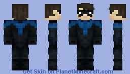 Nightwing | DCU TITANS | Dick Grayson Minecraft Skin