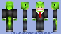 Dinosaur in a suit! :D Rawr!