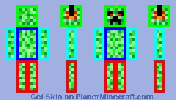 disco creeper :D Minecraft Skin