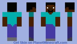 Black Steve Minecraft Skin