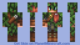 Forest fighter Minecon 2016 official legacy edition skin Minecraft Skin