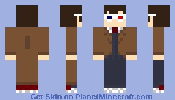 The 10th Doctor With 3D glasses - Doctor Who Minecraft Skin