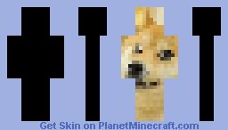 Doge Pixel Art Minecraft Skin
