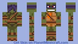 tmnt les tortues ninja Donatello Minecraft Skin