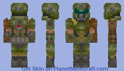 Doom Slayer (Doom Eternal) Minecraft Skin