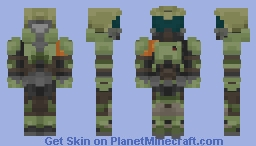 DooM (2016) - Doom Slayer Minecraft Skin