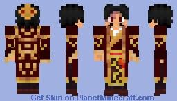 "Shǐ ""Yizhu"" Jùnxióng - Fire Nation General OC - Avatar: The Last Airbender Minecraft Skin"