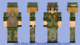 Military Lady ♥ Minecraft Skin