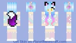 Rainbow Fox Girl Minecraft Skin