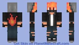 ❆𝓝𝓲𝓷𝓳𝓪𝓖𝓲𝓻𝓵2024❆ Fiery Ninja (PYROCUBE23 Request) Minecraft Skin