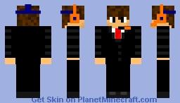 Gamer Businessman Minecraft Skin