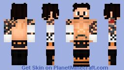 CM PUNK 2007 | ECW Minecraft Skin