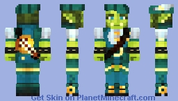 Urza the Wandering Orc Bard (Contest Entry) Minecraft Skin