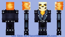 Ghost Rider Revamped Minecraft Skin