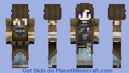 Elizabeth wastelander vault girl Minecraft Skin