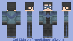 Nightwing | White Knight Minecraft Skin