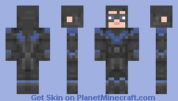 Nightwing | Arkham Knight Minecraft Skin