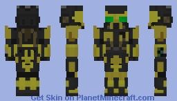 "X03 | Advanced Powered Combat Armor Mk IV | Enclave ""Brimstone"" Power Armor | Fallout 3 | Fallout 4 | Mod | Brimstone Minecraft Skin"
