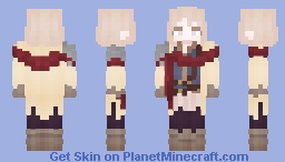 [Commission] Pale Beauty Minecraft Skin