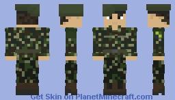 Brazilian Armed Forces | Brazil | Forças Armadas Brasileiras | Brazilian Marine Corp/Army Infantry | Off-Duty | Soldier Minecraft Skin