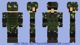Brazilian Armed Forces | Brazil | Forças Armadas Brasileiras | Brazilian Marine Corp/Army Infantry |On-Duty | Rifleman Minecraft Skin