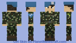 Brazilian Armed Forces UN | Brazil | Forças Armadas Brasileiras | Brazilian Marine Corp/Army Infantry | United Nations | Off-Duty | Soldier/Peacekeeper Minecraft Skin