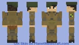 "Brazilian Armed Forces | Brazil | Forças Armadas Brasileiras | Project ""Sandstorm Warrior"" |Off-Duty | Soldier Minecraft Skin"