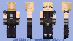 Cloud Strife (Final Fantasy VII Remake) Minecraft Skin