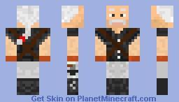 MGS - Ocelot w/ Revolvers And Gun Belt Minecraft Skin