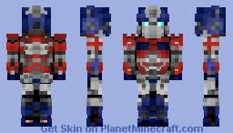 Optimus Prime/Convoy (Bumblebee Movie) (Better in 3D) Minecraft Skin