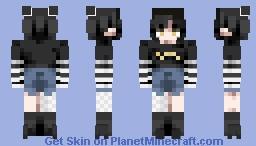 "❧ 𝙳𝚎𝚜𝚝𝚒𝚗𝚢 ❧ ""Monochrome"" Full Skin Minecraft Skin"