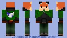 Cloacked Foxy Minecraft Skin