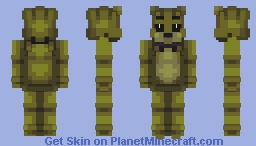 Five Nights at Freddy's: Yellow Bear Suit Minecraft Skin