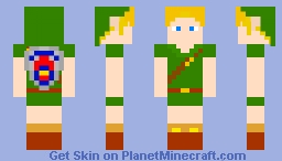 Young Hero of Time (Termina Shield) Minecraft Skin