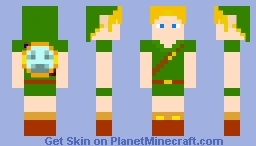 Young Hero of Time (Mirror Shield) Minecraft Skin
