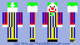 The clown that watches you sleep... Minecraft Skin