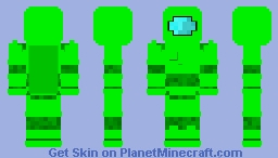 Among us: Lime Minecraft Skin