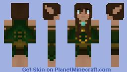 Wood Elf - Druid of The Wild Minecraft Skin