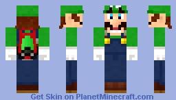 Luigi (Poltergust G-00) Minecraft Skin